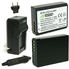 Wasabi Power Battery (2-Pack) and Charger for Canon LP-E10
