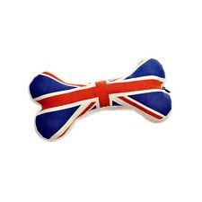 House of Paws Union Jack Bone Large Dog Toy | Squeaky Soft British Cotton Canvas