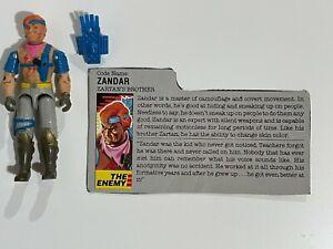 GI Joe ARAH Vintage ZANDAR 1986 (V1)   w/ Fileacard