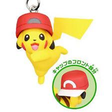 Pokemon Netsuke Mascot 20th Movie Ver. PIKACHU KALOS HAT Strap Figure Tomy Phone