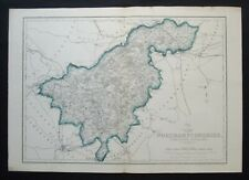 Antique Map: Northamptonshire (North) by John Dower, Weekly Dispatch, c 1860