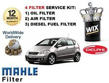 FOR MERCEDES A160 A180 A200 2.0 CDi A CLASS NEW OIL AIR FUEL FILTER SERVICE KIT