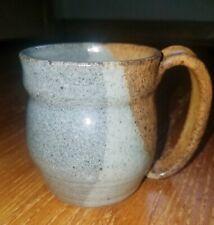 Handcrafted Gray and Brown Pottery Coffee Mug