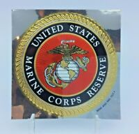 "4"" inch USMC US Marine Corps Reserve Decal Car Bumper Sticker EGA Gold Foil leaf"