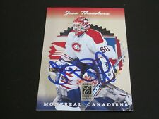 JOSE THEODORE AUTOGRAPHED 1997 DONRUSS CARD CANADIENS