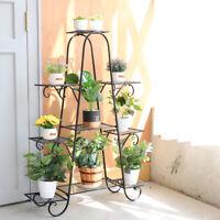 Metal Classic Tall Plant Stand Art Flower Pot Holder Rack Planter fr Garden Home