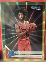2019-20 Donruss Rated Rookie Green Yellow Lazers Coby White RC Rookie #206