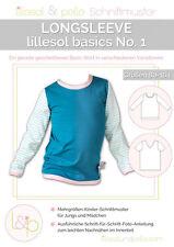 LILLESOL UND PELLE SCHNITTMUSTER LONGSLEEVE NO.1 KINDER SHIRT BASIC