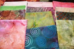Batik In Beautiful Designs & Colors Cotton Quilt Fabric Your Choice