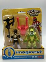 Imaginext Power Rangers Black Ranger vs Alien FGD78 Sealed Box Brand New NIB