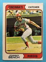 1974 Topps Baseball Card #10 Johnny Bench Cincinnati Reds HOF