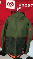 2020 NWT 686 Quartz Anorak Jacket Snowboard Small S Green Womens 10K c21