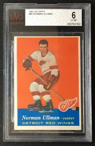 1957-58 57-58 TOPPS #46 Norman Norm Ullman Rookie BGS BVG 6 EX-MT Excellent-Mint