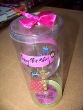 stem wine glass Happy Birthday Tumbleweed Pottery Linda Grayson