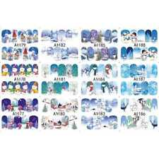 Festival Christmas Old Man Nail Stickers Princess Reindeer Nail Pop Fashion New