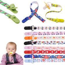 Baby Kinder Schnullerband -Schnullerkette mit schnullerclip Cartoons Dummy Clips