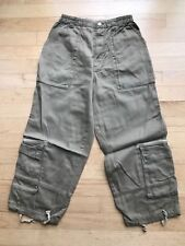 Oilily cargo clamdiggers pants, size EUR 140 / US 9-10, elastic waist