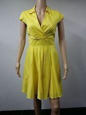 NEW - Betsey Johnson - Size 8 -  Cap-Sleeve Surplice Dress - Yellow - $118