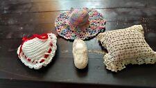Vintage Set of 4 Crochet Pin Cushions