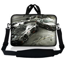 "17.3"" 17.4 Laptop Sleeve Bag Case Pouch w Handle & Shoulder Strap Racing Cars 17"
