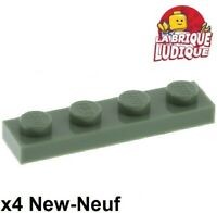 Lego - 4x Plaque Plate 1x4 4x1 vert pale sable/sand green 3710 NEUF