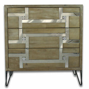 FAULTY Mirror bedroom bedside cabinet console Dresser Mirrored Glass