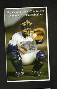 Syracuse Chiefs--1996 Pocket Schedule--Saranac--Blue Jays Affiliate