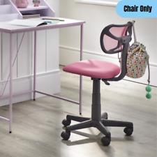 Kids Desk Task Chair Swivel Adjustable Height Mobile Homework Study Seat Pink