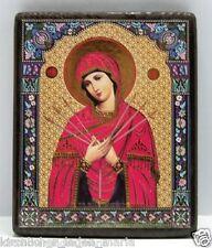 Ikone GM Siebenpfeilige икона богородица Семистрельная освящена 18x15x2 cm