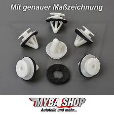 20x TÜRVERKLEIDUNG BEFESTIGUNG CLIPS KLIPS MAZDA 3 5 6 CX-7 RX7 WEISS - DICHTUNG
