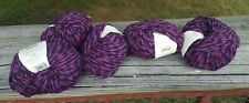 Five Skeins Rowan Plaid Chunky Alpaca/Merino Yarn In Purple Prose (discontinued)