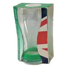 Coca-Cola London Olympics 2012 Commemorative Glass With Green Wristband Unused