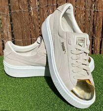 Puma Rihanna Gold Toe Suede Platform Sneakers Women's Iconic Shoes UK 5 US 7.5