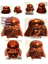 LEGO DARTH VADER HELMET CHROME ORANGE GENUINE CUSTOM BEST QUALITY MONOCHROME