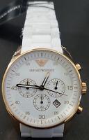Emporio Armani Men's Sport White Dial Watch AR5919 - Retail $395 (57% off)