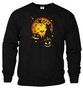 Halloween Sweatshirt Scary Horror Night Pumpkin Cat Trick or Treat Gift Men Top