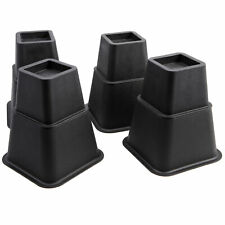 """8PCS Square Chair Bed Risers Elephant Feet Lift Furniture Extr Stands Bed 3+5"""""""