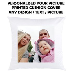 PERSONALISED FAMILY PHOTO Cushion Cover Custom Print Throw Pillow Gift