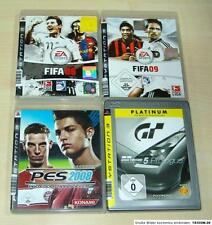 4 PLAYSTATION 3 PS3 SPIELE SAMMLUNG FIFA 08 09 PES 2008 GRAN TURISMO 5 - (13 14)