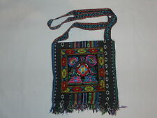 NEW ETHNIC NATIVE FOLK ART MORRAL CROSS BAG TOTE RASTA LATIN INDIAN PURSE MEXICO
