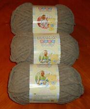 Bernat Baby Blanket Yarn Lot Of 3 Skeins (Sand Baby #03010) 3.5 oz. Skeins