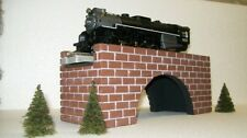 "O GAUGE Model Railroad BRICK ARCH BRIDGE - 12"" /Train Layout Scenery"