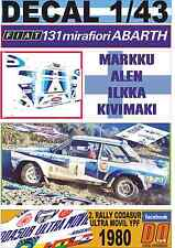 DECAL 1/43 FIAT 131 ABARTH M.ALEN R.CODASUR 1980 DnF (01)