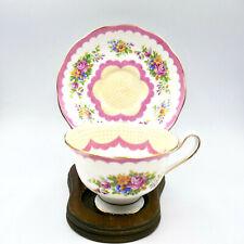 Royal Albert Prudence Pink Avon Tea Cup Saucer P1143 Bone China England Vintage