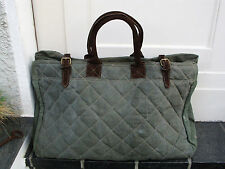 Vintage Weekender Wochenendtasche Reisetasche Tasche Strandtasche Canvas Leder