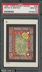1991 Topps Wacky Packs #33 Retch A Sketch PSA 10 GEM MT