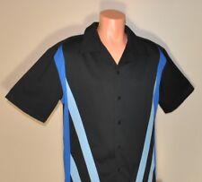 Sz LARGE Mens Bowling Shirt Charlie Sheen Retro Vintage Rockabilly Ocean NWT