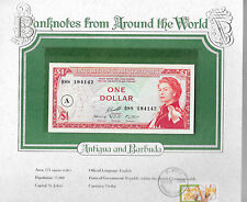 World Banknotes Antigua East Caribbean States 1 Dollar 1965 Gem UNC P13h B88