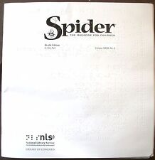 Spider Magazine - May / June 2018 (Braille for the Blind Teen)