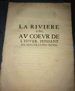 LA RIVIÈRE À SEC AU CŒUR DE L'HIVER PENDANT SES PLUS GRANDES PLUIES. 1650.